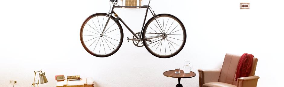 fancy Fahrradhalter für's Wohnzimmer