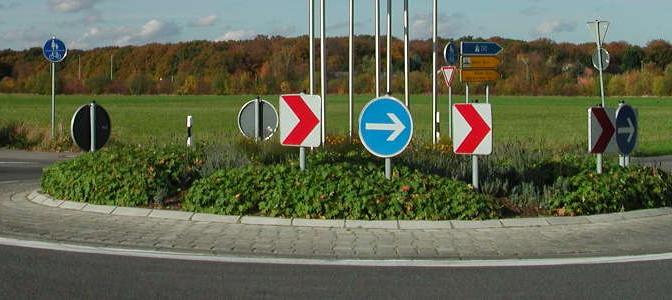 Radfahren im Kreisverkehr