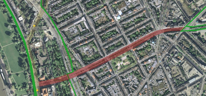 Radweg Klever Straße - Aktuell