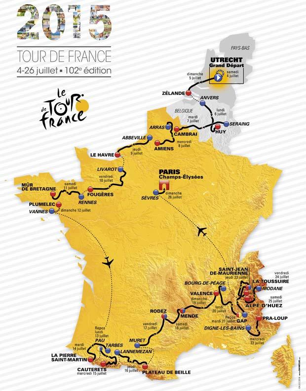 Tour de France 2015 Map