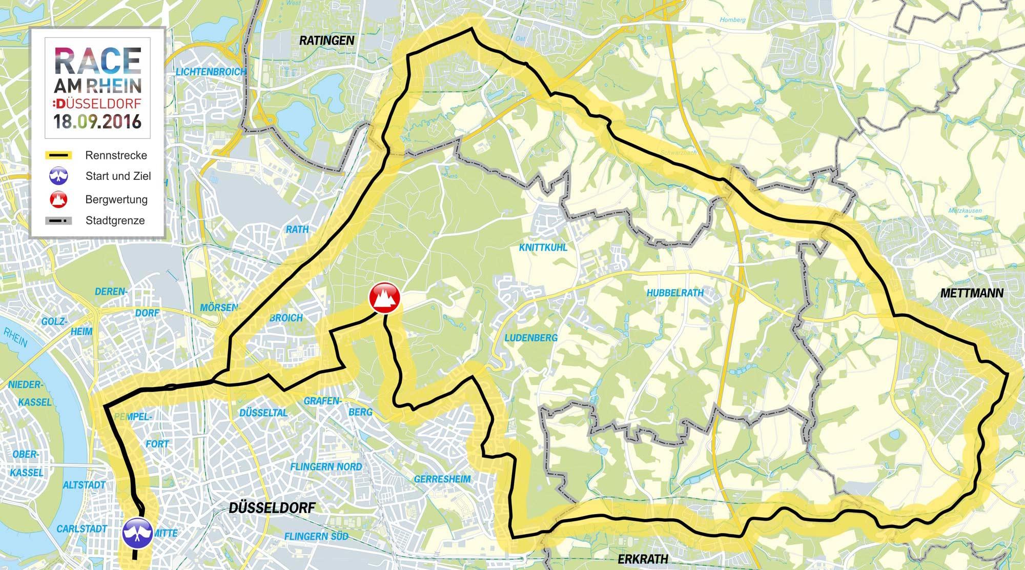 jugendstilbikes Race am Rhein Strecke