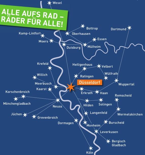 Sternfahrt Startpunkte 2016